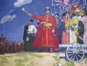 TOKAREV V. B. Khmelnitsky Huile sur toile, 1972 140 x 190 cm